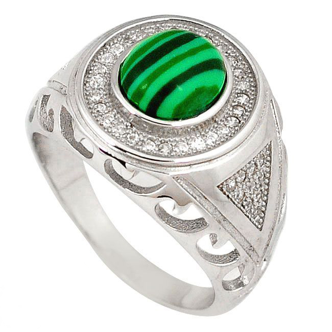 malachite mens ring