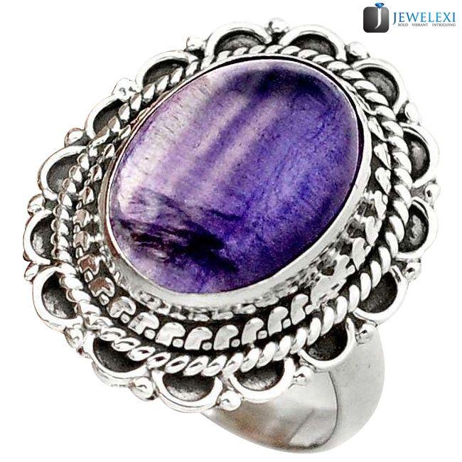 multicolor fluorite ring