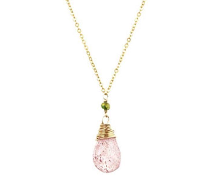muscovite briolette necklace