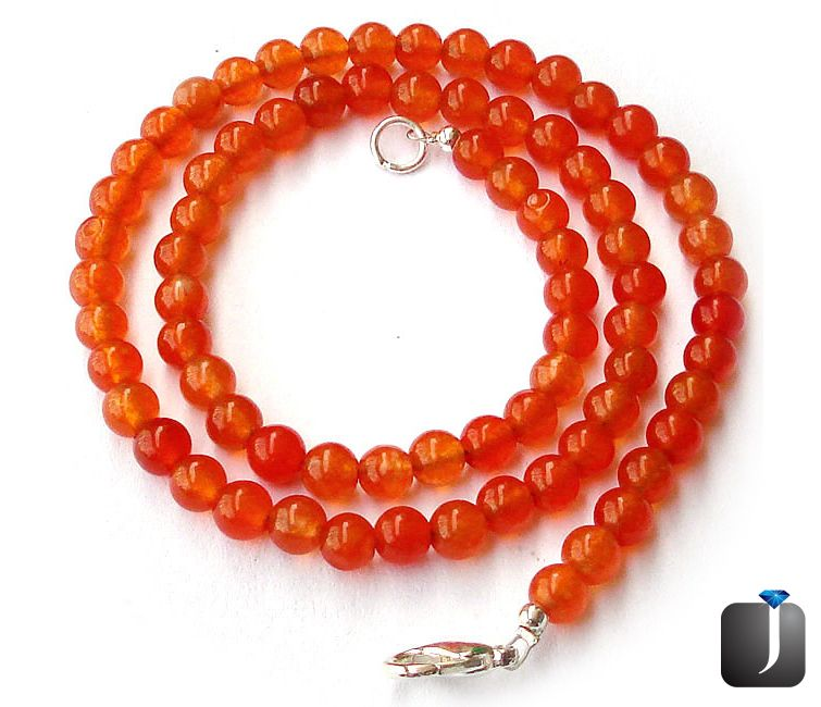 natural orange carnelian necklace bead