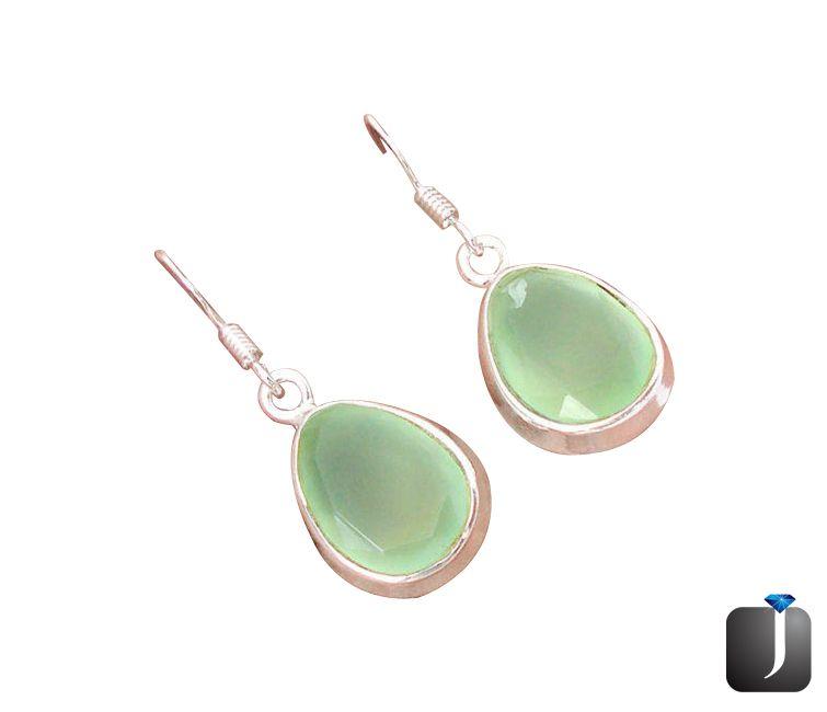 prehnite dangle earrings