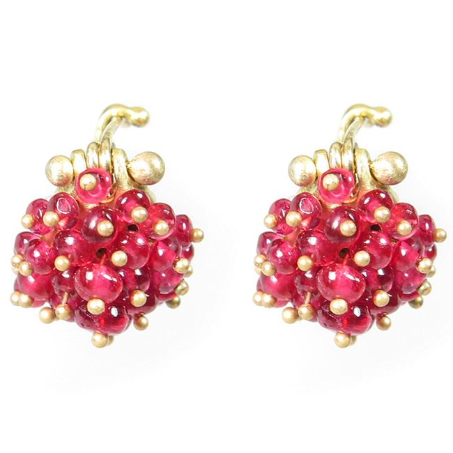 red spinel earrings