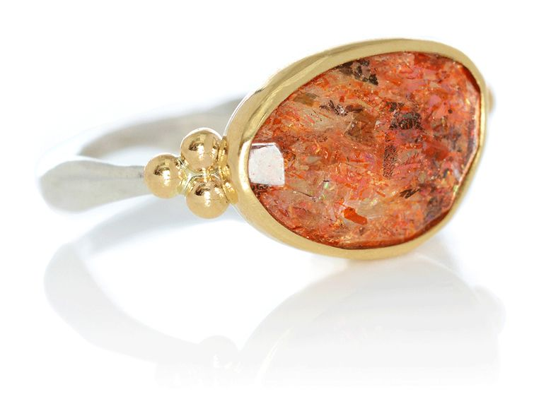 rosecut sunstone ring emily amey