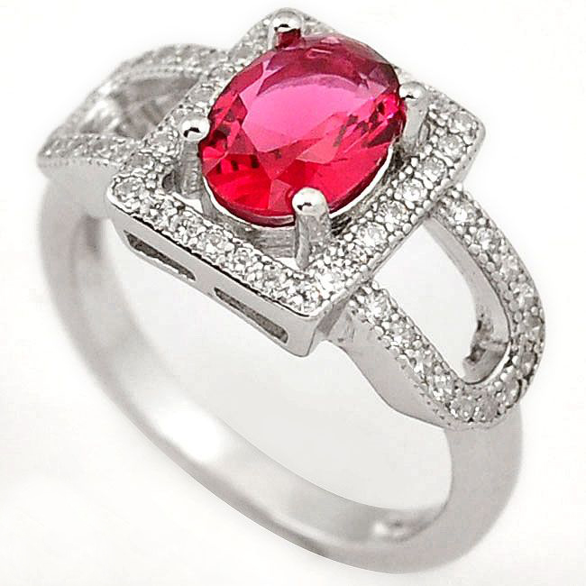 ruby quartz gemstone ring