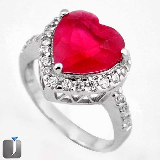ruby quartz heart ring
