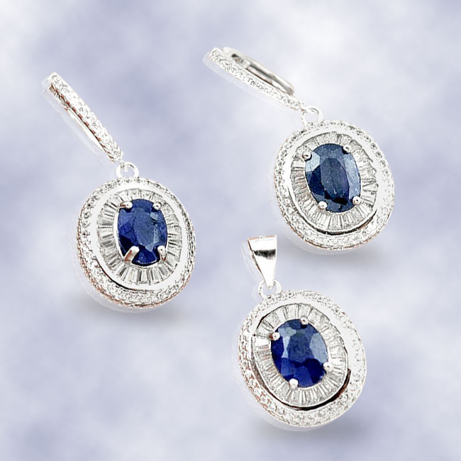 silver jewelry with gemstones