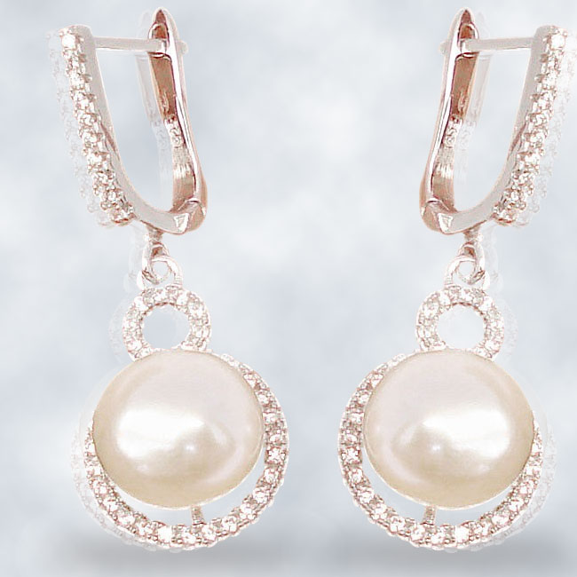 silver jewelry with pearl gemstone