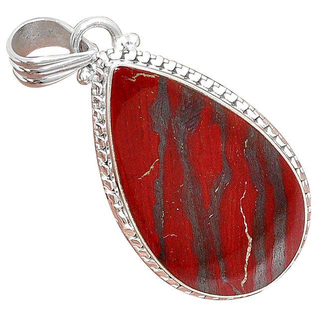snake skin jasper pendant