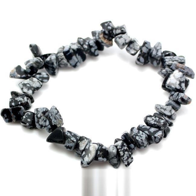 snowflake obsidian gemstone bracelet