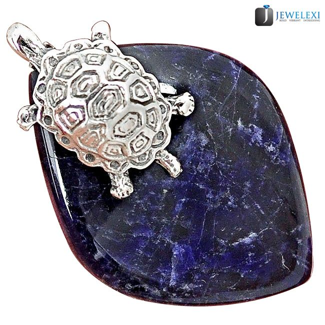 sodalite tortoise pendant