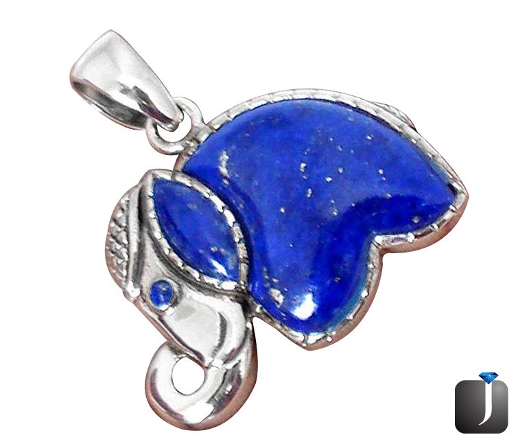 south west lapis elephant pendant