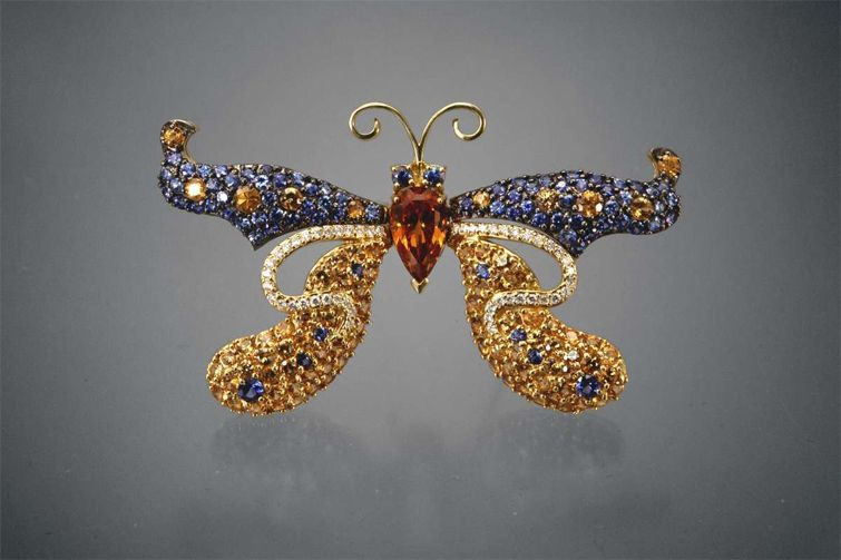 spessartine brooch