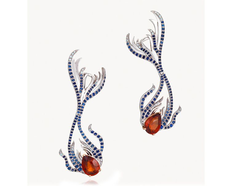 spessartine earrings