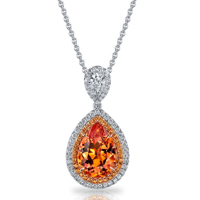 spessartite garnet necklace