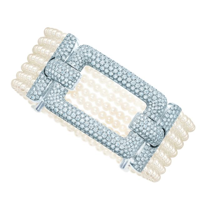 Tiffany Diamond and Pearl Bracelet