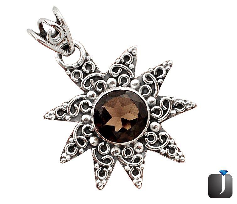 topaz silver-pendant