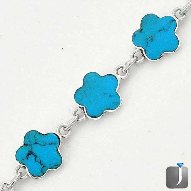 turquoise enamel flower bracelet