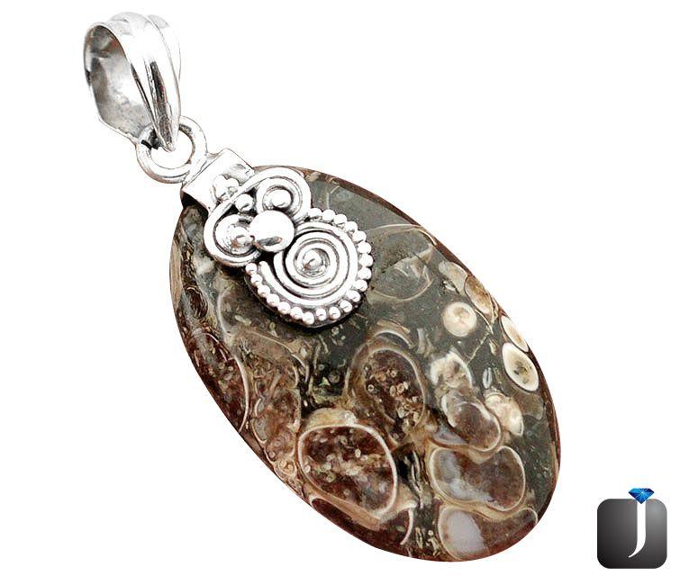 urtle agate silver pendant