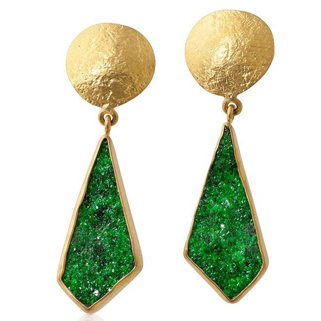 uvarovite dangle earrings