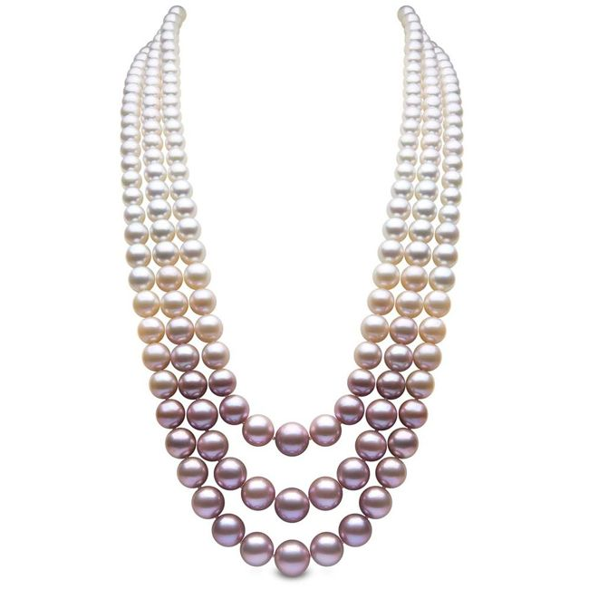 Yoko London Three Strand Pearl Necklace