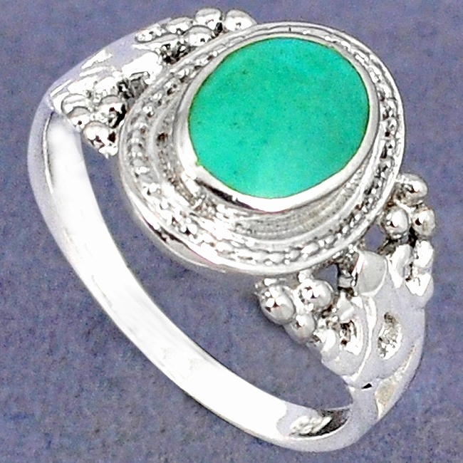 Green Turquoise Solitaire Ring