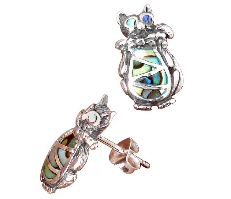 abalone stud earrings