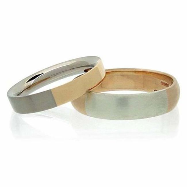 Amanda Li Hope Wedding Bands in Fairtrade Gold