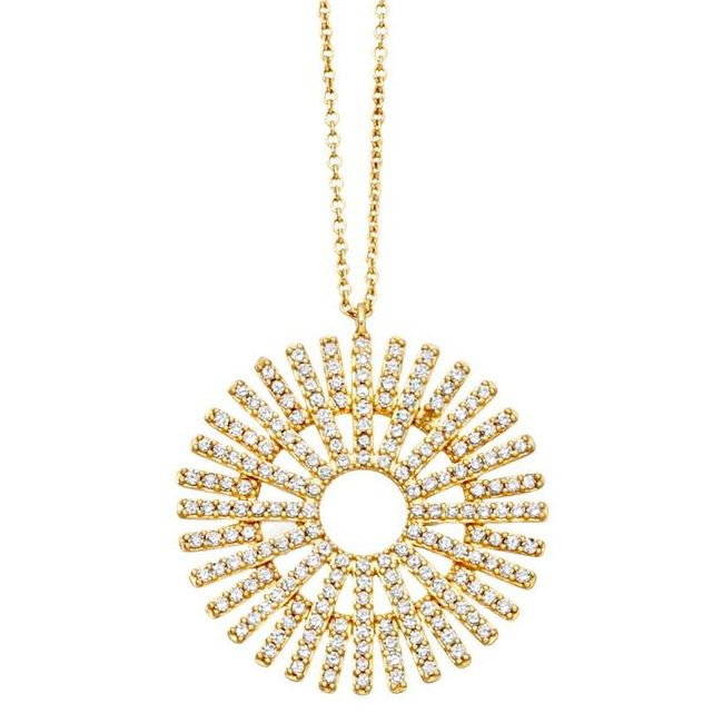 Astley Clarke rising Sun Yellow Gold and Diamond Pendant