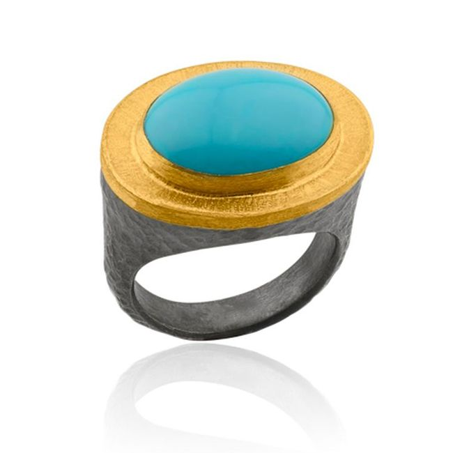 Behar Cabochon Turquoise Ring