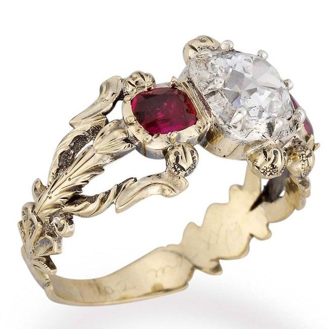 bentley and skinner's ruby victorian engagement ring