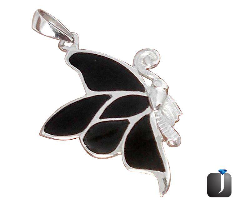 black butterfly pendant