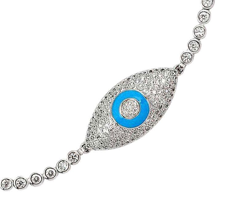 blue enamel eye bracelet
