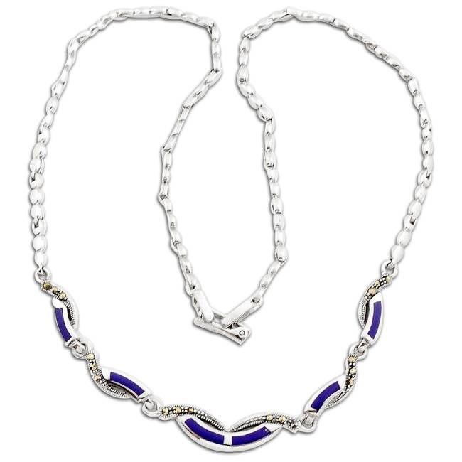 blue lapis gemstone necklace