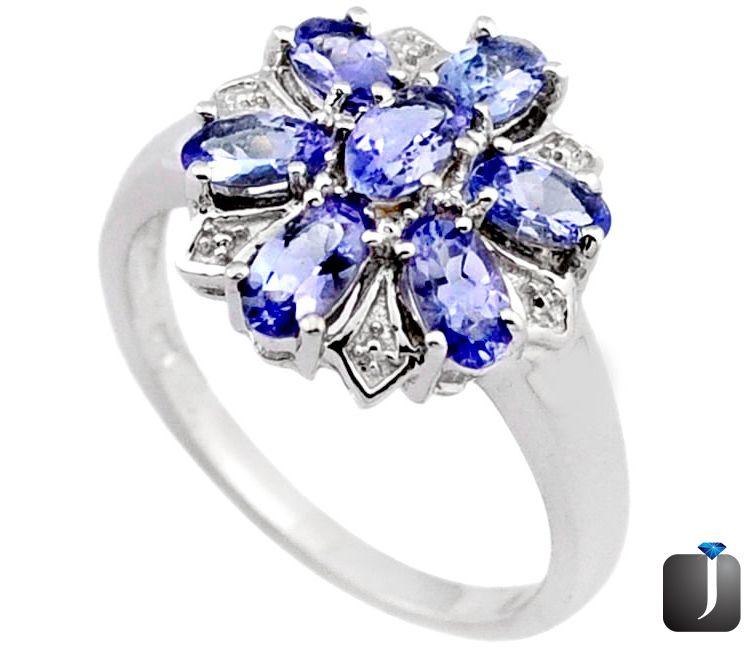 blue tanzanite ring