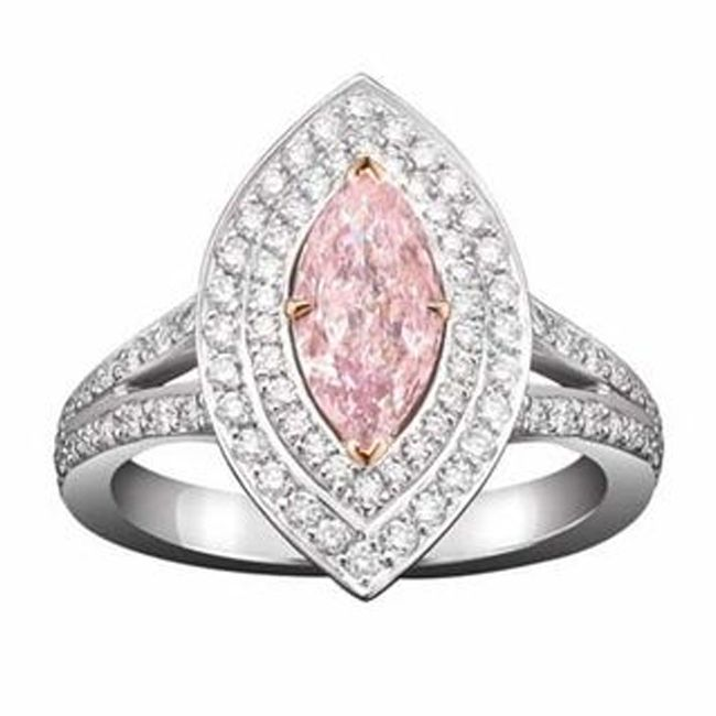 boodles marquise cut pink diamond engagement ring