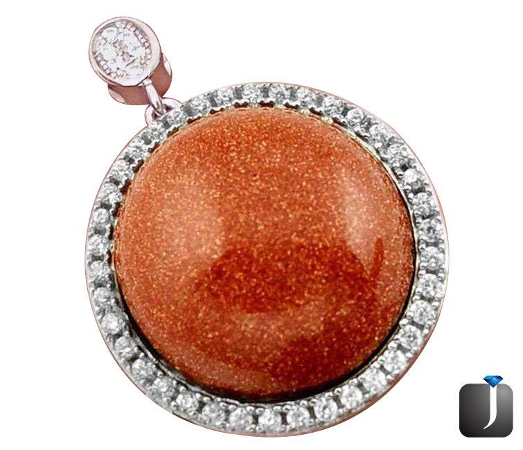 brown goldstone pendant