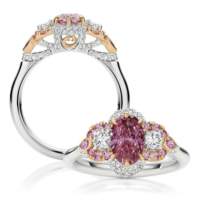 callei jaantoinette pink diamond ring