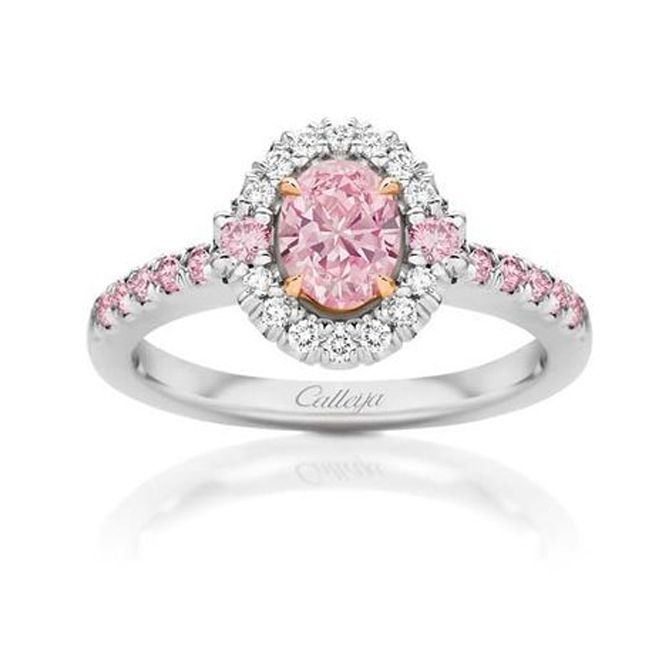 calleija elyssa pink diamond engagement ring