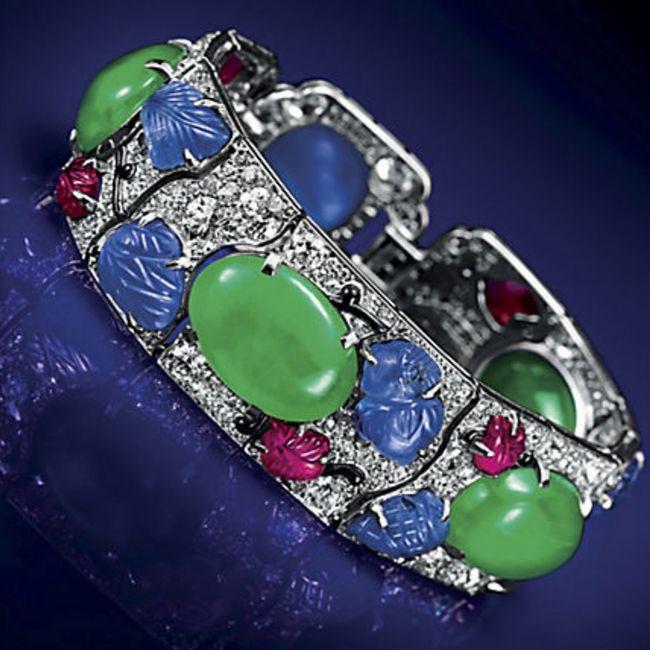 Cartier Jade Tutti Frutti Bracelet