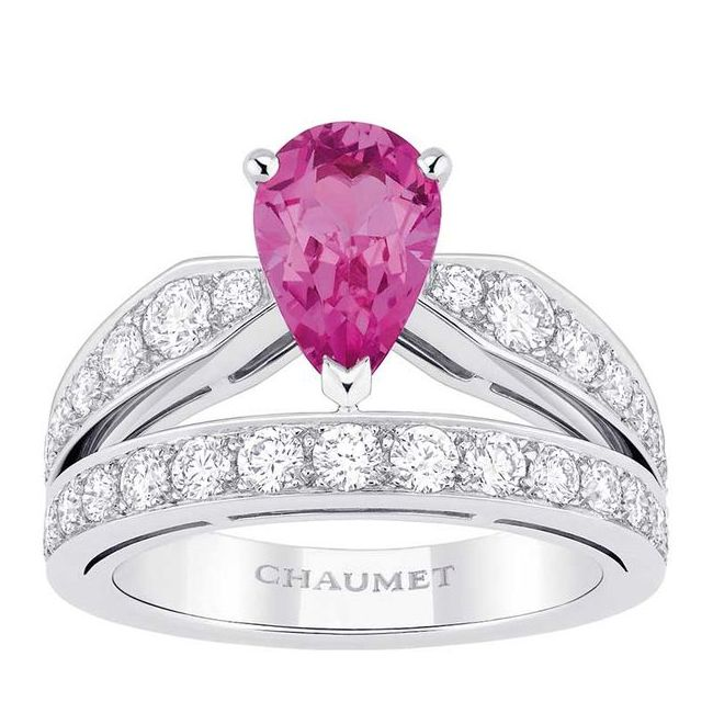 chaumet josephine pink sapphire engagement ring