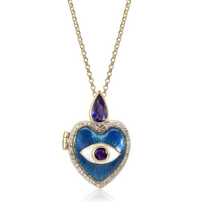 Couture Blues Holly Dyment Blue Eye Pendant