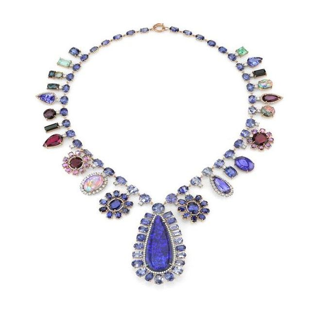 couture blues irene neuwirth one of a kind necklace.