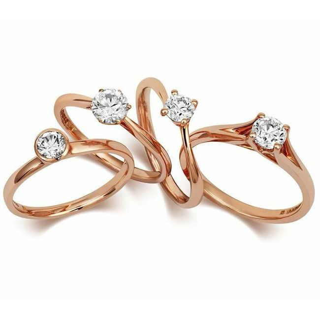 Cred Engagement Rings in Fairtrade Rose Gold