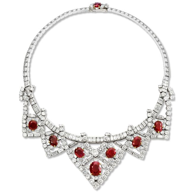 Elizabeth Taylor Cartier Ruby Necklace