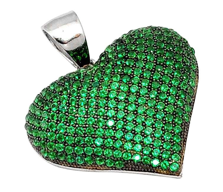 emerald heart pendant