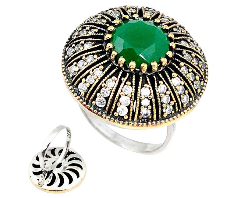 emerald turkish ring