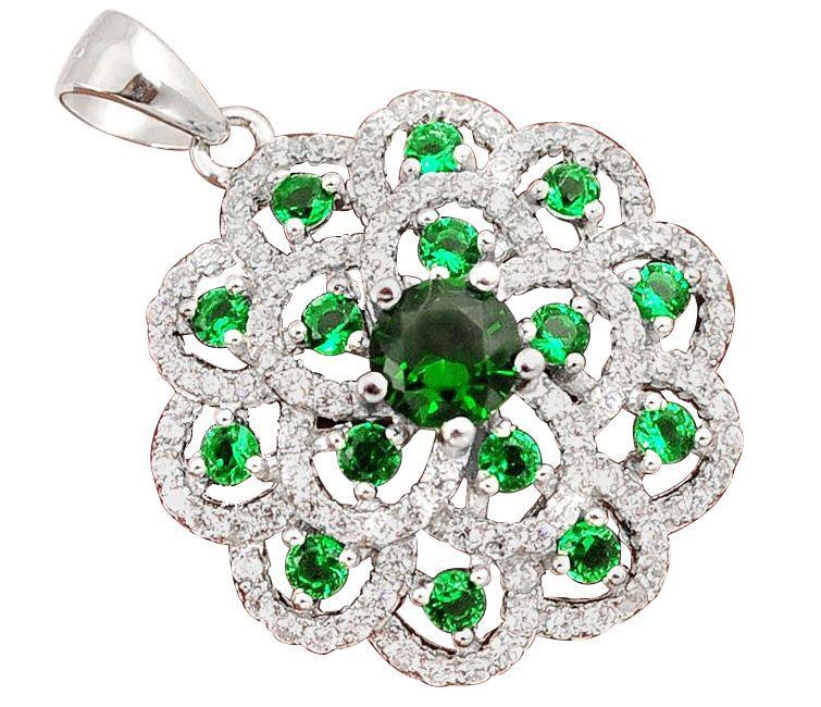 emerald topaz pendant