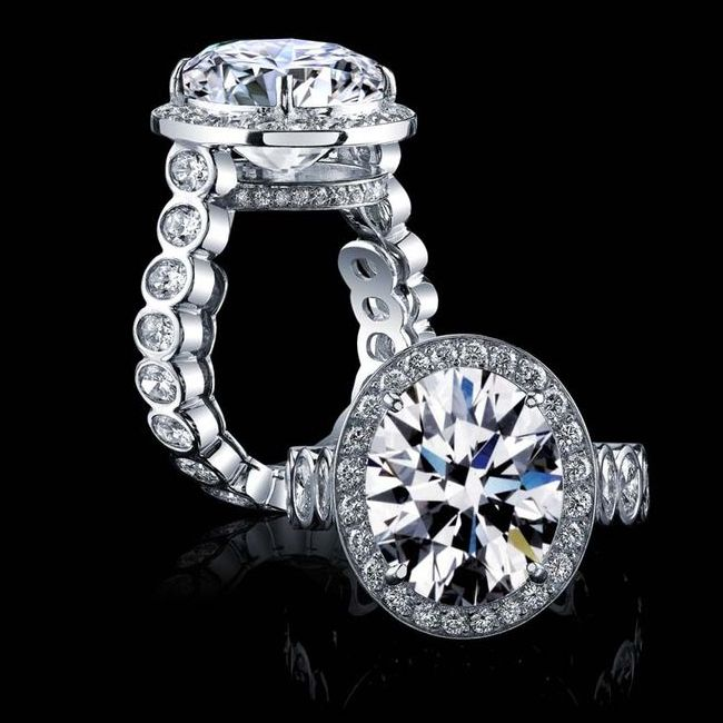 engagement ring styles huge rock