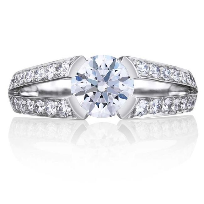 engagement ring styles split shank