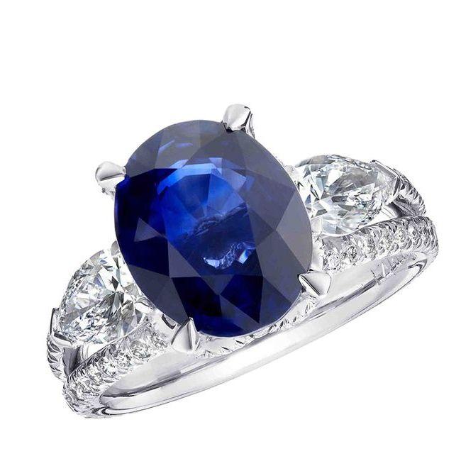 faberge devotion blue sapphire ring